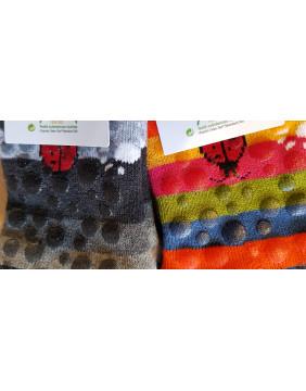 Chaussettes antidérapantes en coton fabriquées en France